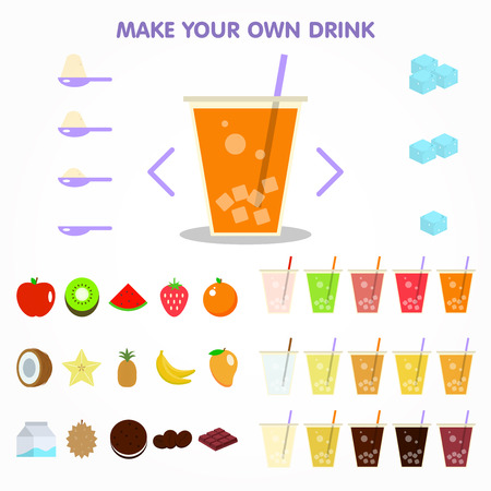 bubble drink juice creator for apps design