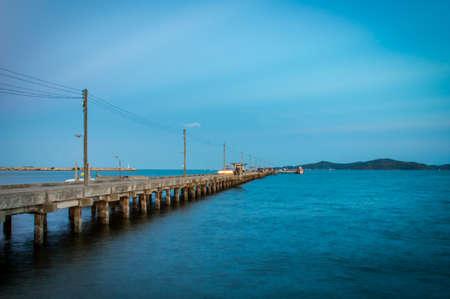 rayong: pier at Rayong , Thailand