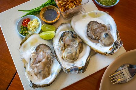 seasoning: fresh oysters with seasoning