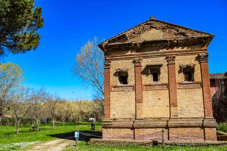 sepulcher of Annia Regilla, in the Caffarella park, Rome, Lazio, Italy.