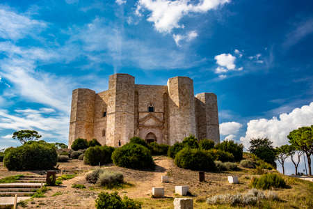 Castel del Monte, the famous and mysterious octagonal castle built in 13th century by Emperor Frederick II