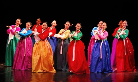 Performance of Busan Korean traditional dance at theatre Stock Photo - 21631594