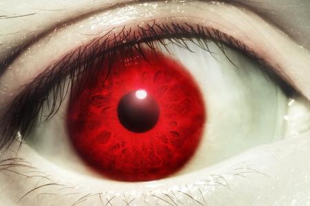 enojo: Ojo rojo sangre