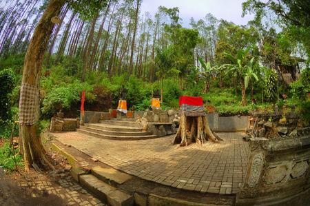 primordial: View of old monastery beside garden, Taken at Vihara Dewi Kwan Im, Kraton Kawi Mountain, Malang, east Java, Indonesia