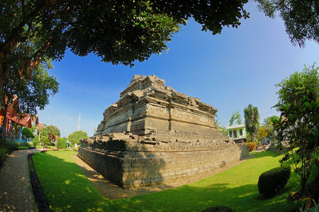 primordial: View of Jago Temple beside garden Taken at Jago Temple, Malang, east Java, Indonesia