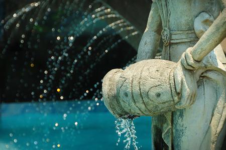 Female Figure Statue Holding Vase Of Water Taken At Ken Dedes