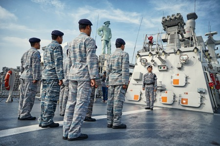 Ceremony of Anniversary Indonesian Eastern Navy a.k.a Koarmatim at Surabaya, East Java, Indonesia