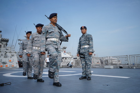 merah: Ceremony of Anniversary Indonesian Eastern Navy a.k.a Koarmatim at Surabaya, East Java, Indonesia