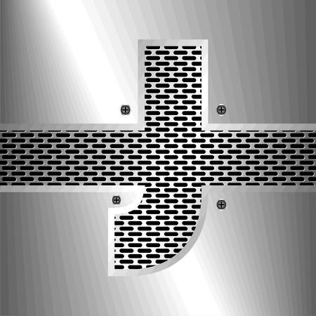 folded metallic tape: Letter J