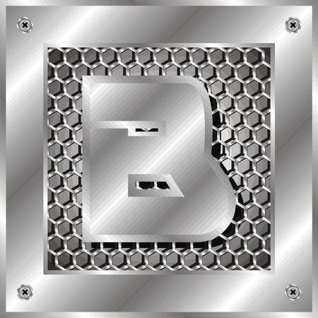 perforation tape: letter b Illustration