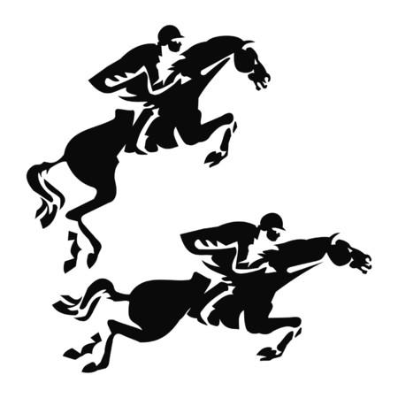 eventing: equestrian sport Illustration