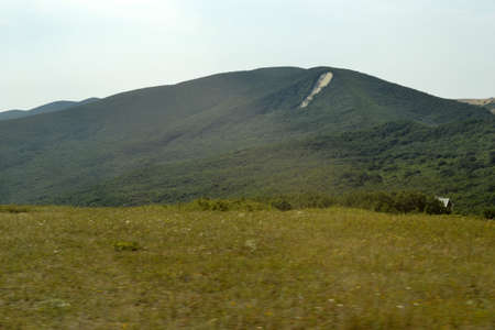 rockfall: mountain nature Stock Photo