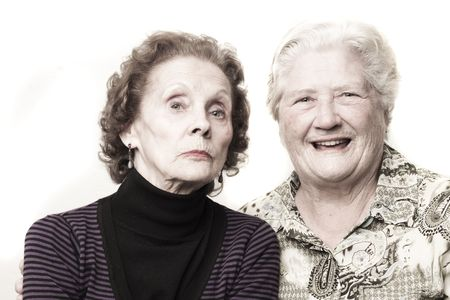Funny old ladies Stock Photo - 8100011
