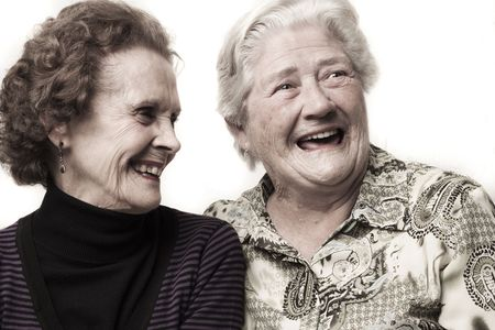 Old ladies laughing Stock Photo - 8100029