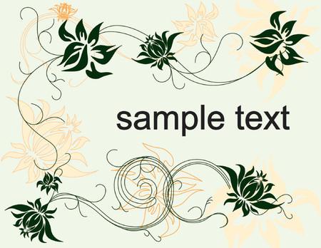 summer floral background vector illustration