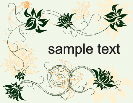 summer floral background vector illustration