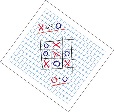 scratch pad: Tic-Tac-Toe leisure games vectors illustration