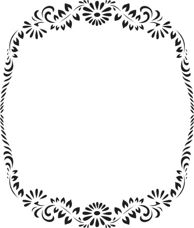 floral circle pattern, design vector illustration Illustration