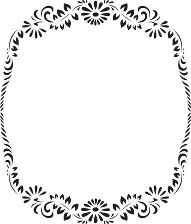 floral circle pattern, design vector illustration Illustration