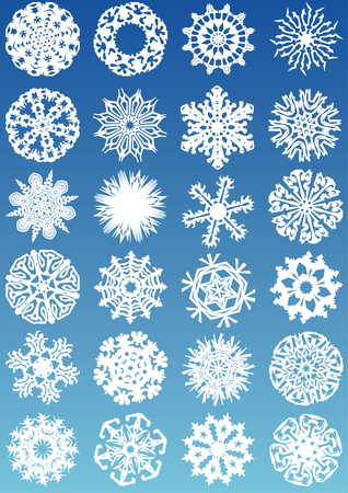 cold fusion: Snowflakes vectors icon set and design elements
