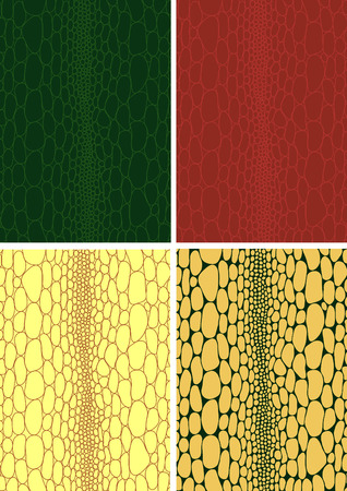 Crocodile skin leather texture background pattern ivector llustration Vector