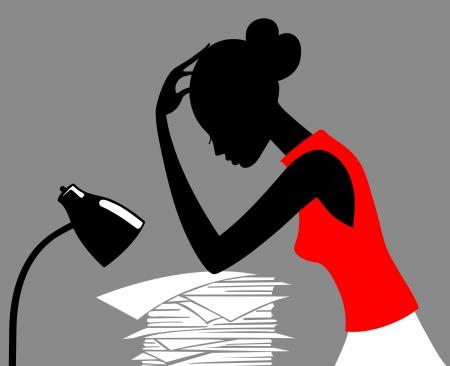 ersch�pft: Karrierefrau Vektor-Illustration