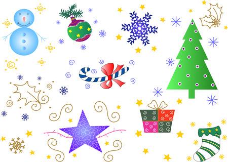 Xmas stuff vector decorations
