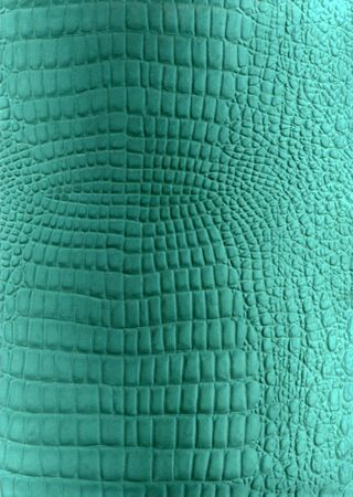 Green reptile leather imitation texture