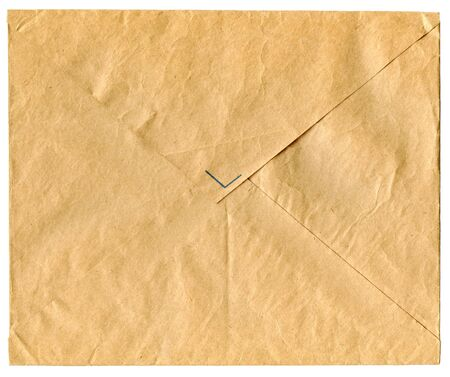 vintage envelope for a letter isolated on white Stock Photo - 2846053