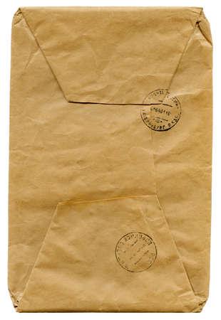 vintage envelope: dotaci�n para la cosecha una carta aislada en blanco