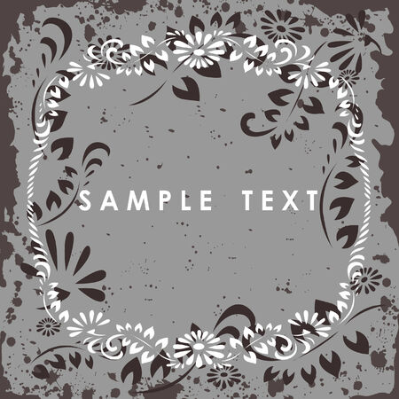 Floral background with circle pattern - vector illustration. Fully editable, easy color change. Vector
