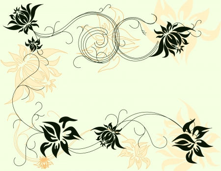 Spring floral background - vector illustration. Fully editable, easy color change. Stock Vector - 2863152