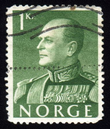 Vintage antique postage stamp from Norway