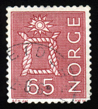 collectable: Vintage antique postage stamp from Norway