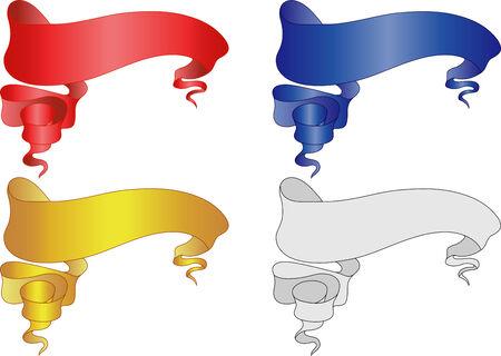 Pirate banneri zestawu. Vector illustration. W pełni edytowalnych, łatwo zmienić kolor.