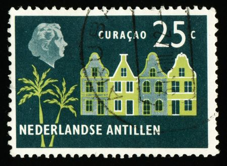 printed material: Vintage antique postage stamps from Holland