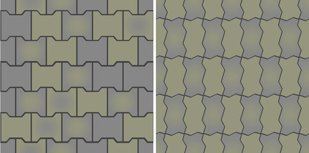 Seamless patterns of pavement. Vector illustration. Fully editable, easy color change.