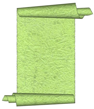 yellowish: Vintage green grunge rolled parchment illustration with ragged borders