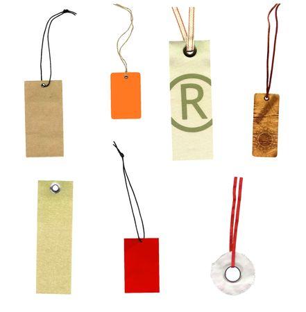 Kolekcja etykiet prise pojedyncze etykiety na białym