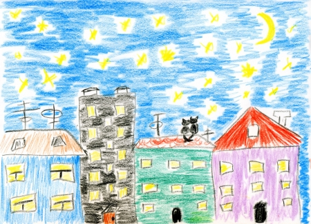 Kinder malen März Katzen lieben Standard-Bild - 3411667
