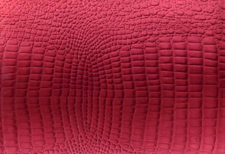 Red reptile leather imitation texture