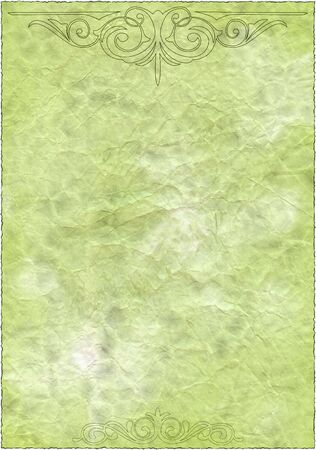 Vintage isolated old retro green paper texture to background with patternss Stock Photo - 3472880