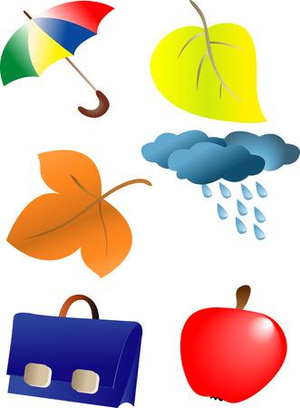 ornaments vector: Autunno stagione ornamenti. Illustrazione vettoriale. Completamente modificabili, facile cambiare colore
