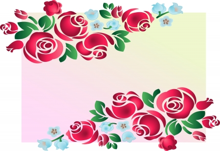 Rose ornament. Vector illustration. Fully editable, easy color change. Illustration