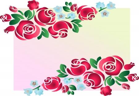 Rose Ornament. Vector illustration. Voll editierbar, einfach Farbe ändern. Standard-Bild - 3687399