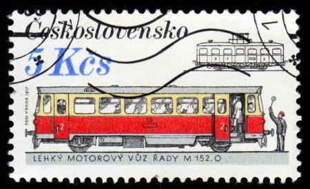 czechoslovakia: Vintage antique postage stamp from Czechoslovakia Stock Photo