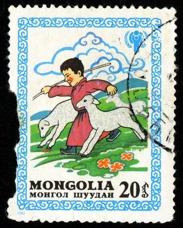 Vintage antique postage stamp from Mongolia Stock Photo - 3764783