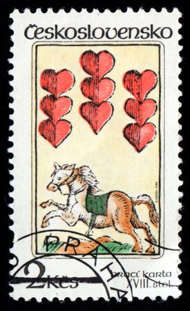 Vintage antique postage stamp from Czechoslovakia Stock Photo - 3764779