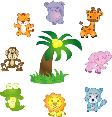 Animals icons - vector icons set. Fully editable, easy color change Vectores