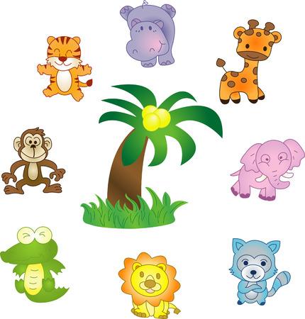 Tiere Ikonen - Vektor-Icons gesetzt. Voll editierbar, einfach Farbe ändern Standard-Bild - 3836821